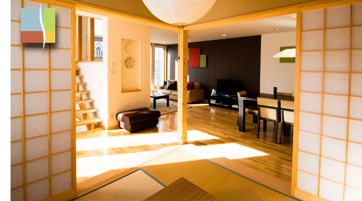 morning sun in the living area from Japanese room